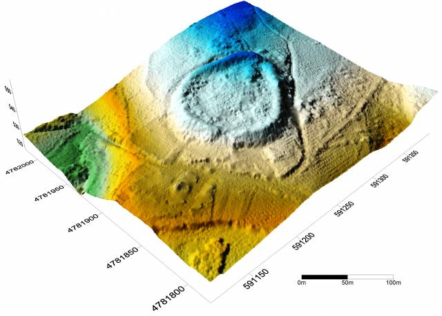 Digital Surface Model and Digital Terrain Model for hillfort 2